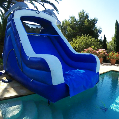 Dolphin inflatable swimming pool slide Ibiza
