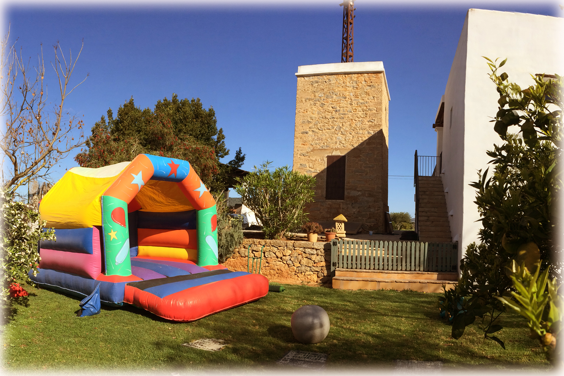 Party Time Bouncy Castle fits perfectly!