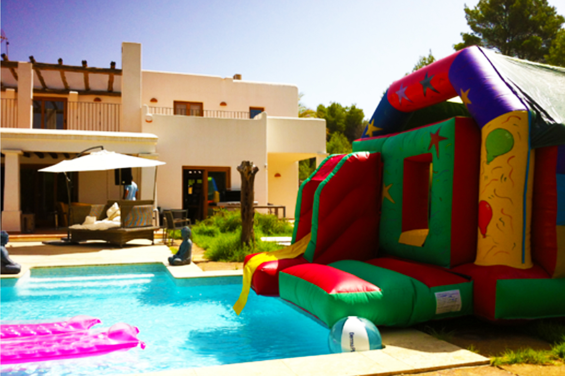 The Fun House Bouncy Castle - Inflatable Castles available at Fairytale Ibiza