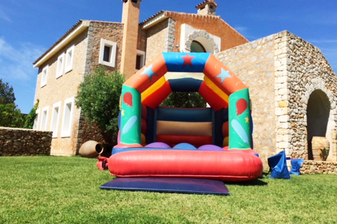 Bounce time! 'Party Time' - Fairytale Ibiza's bouncy castles on location
