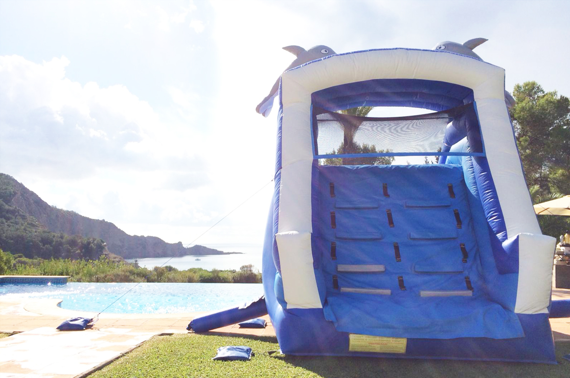 Fairytale Ibiza - The 'Dolphin' inflatable water slide