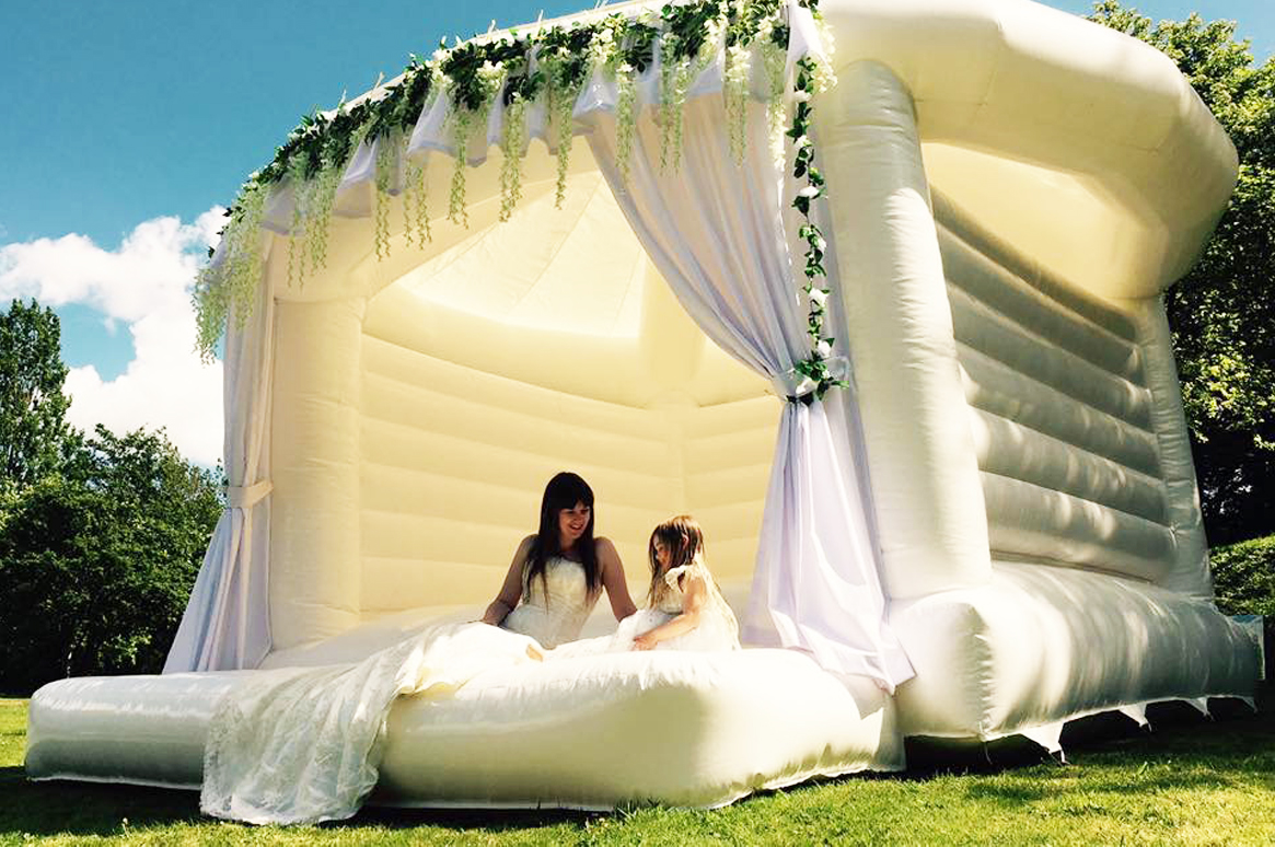 White Wedding bouncy castle by Fairytale Ibiza