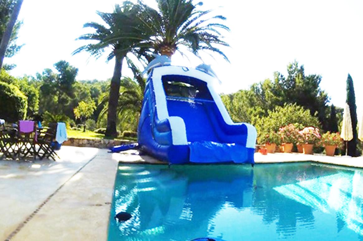 Inflatable Water Slide - Ibiza Pool Party - Fairytale Ibiza