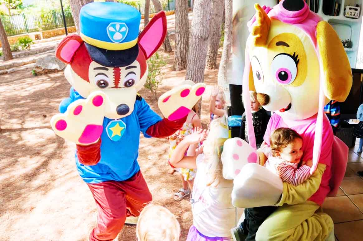 paw patrol themed childrens party - fairytale ibiza
