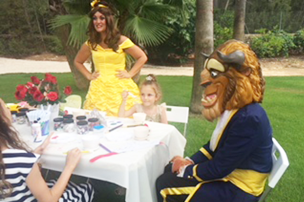 Beauty & The Beast Fairytale Party here in Ibiza