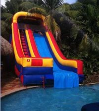Tropical Plunge - Fairytale Ibiza - Inflatable water slides for your pool party here in Ibiza