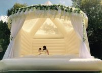 White Wedding Bouncy Castle - Fairytale Ibiza