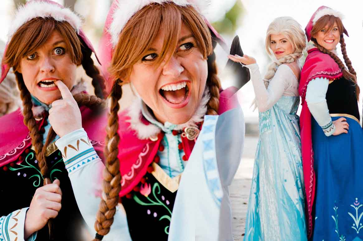 anna and the cast of our Frozen princess party