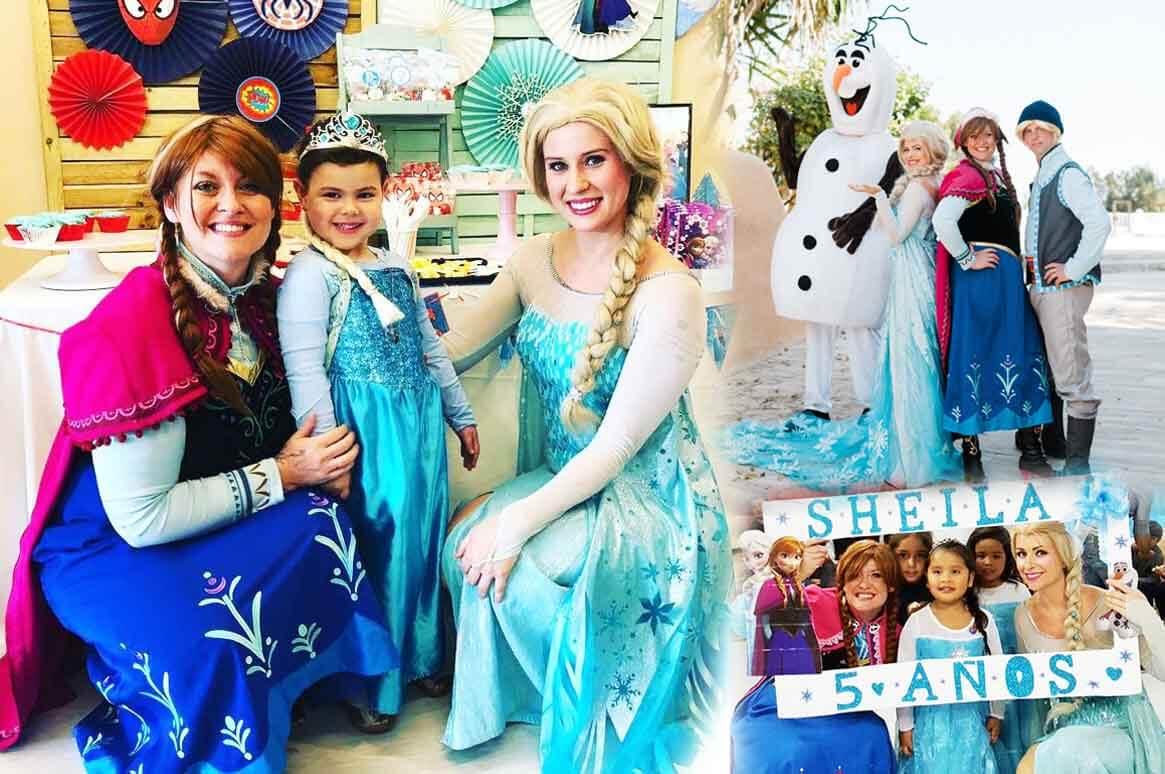 Anna, Elsa, Frozen princesses