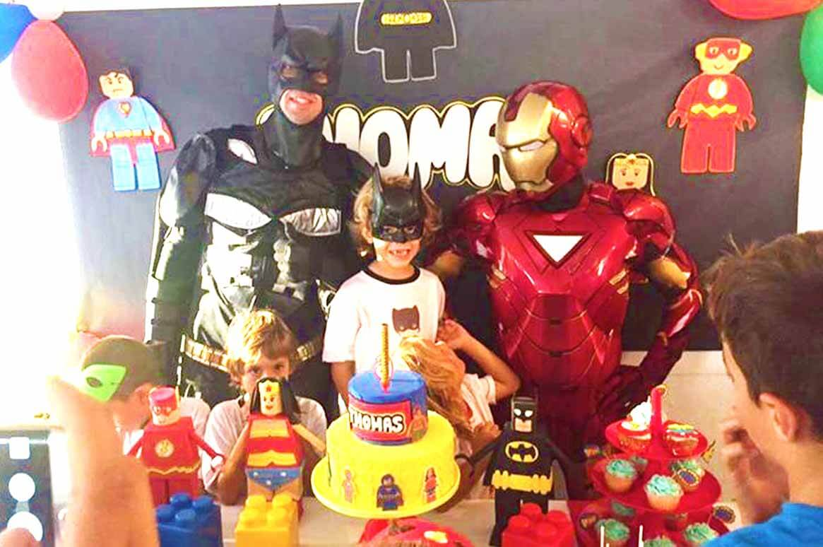 Batman, Ironman and Birthday Cake