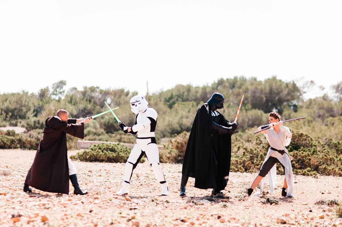 Star Wars parties, Darth Vader, Stormtrooper & Jedi