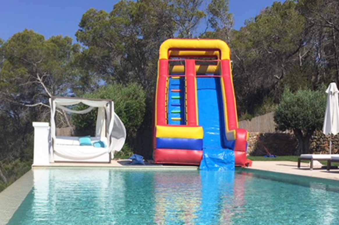 Tropical Plunge bouncy castle inflatable water slide