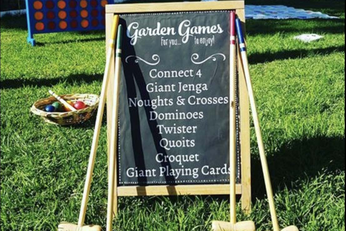 Giant Garden Games - Bodas Ibiza - Decoración para Bodas Ibiza
