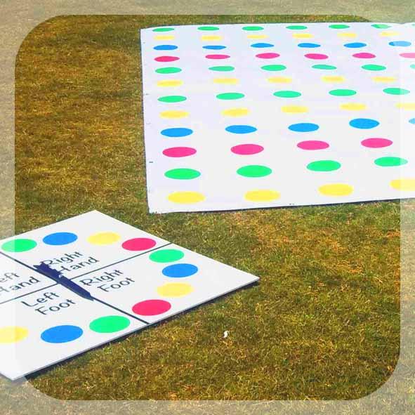 Giant Twister game - Garden Games - Wedding games