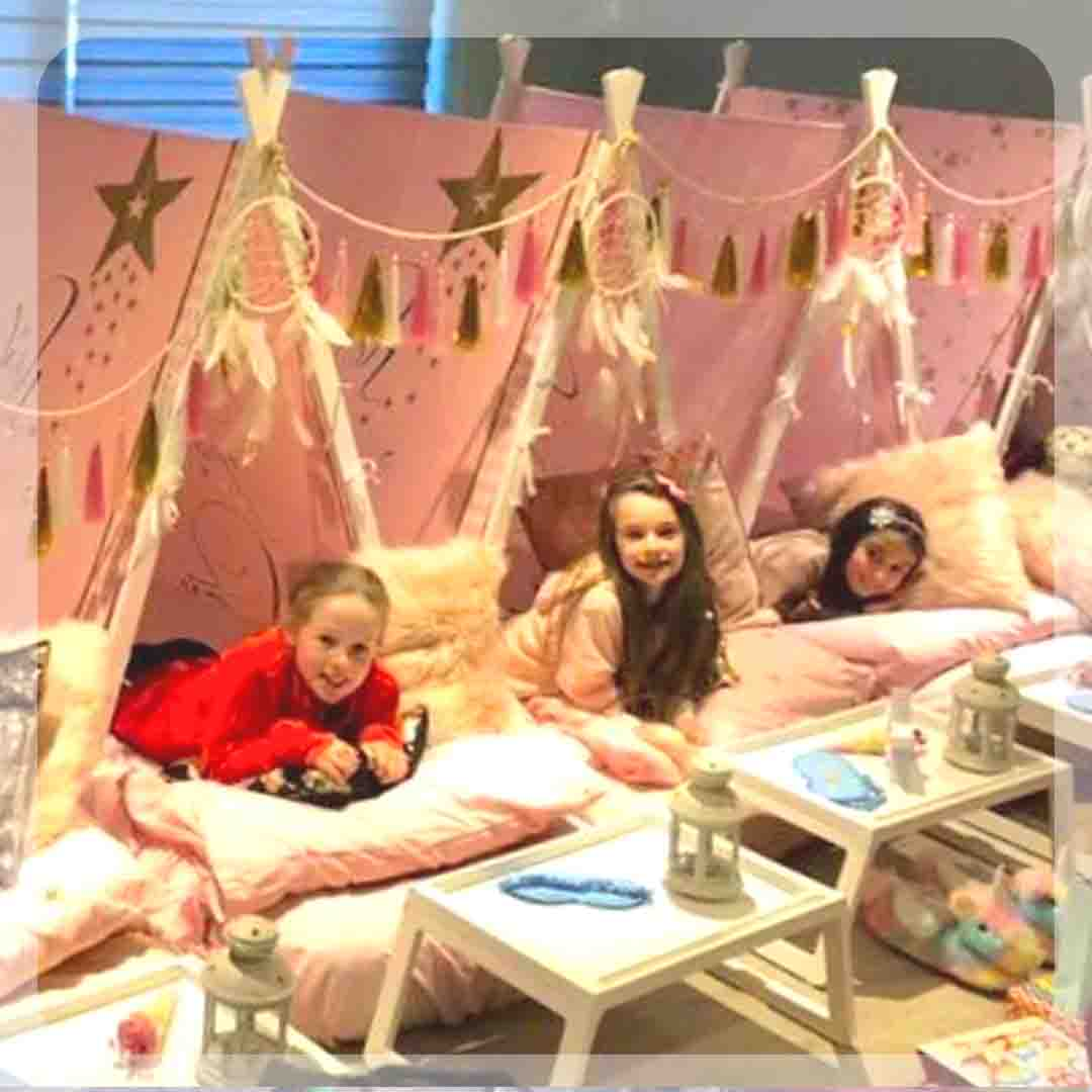 Teepee sleepover party for girls in Ibiza