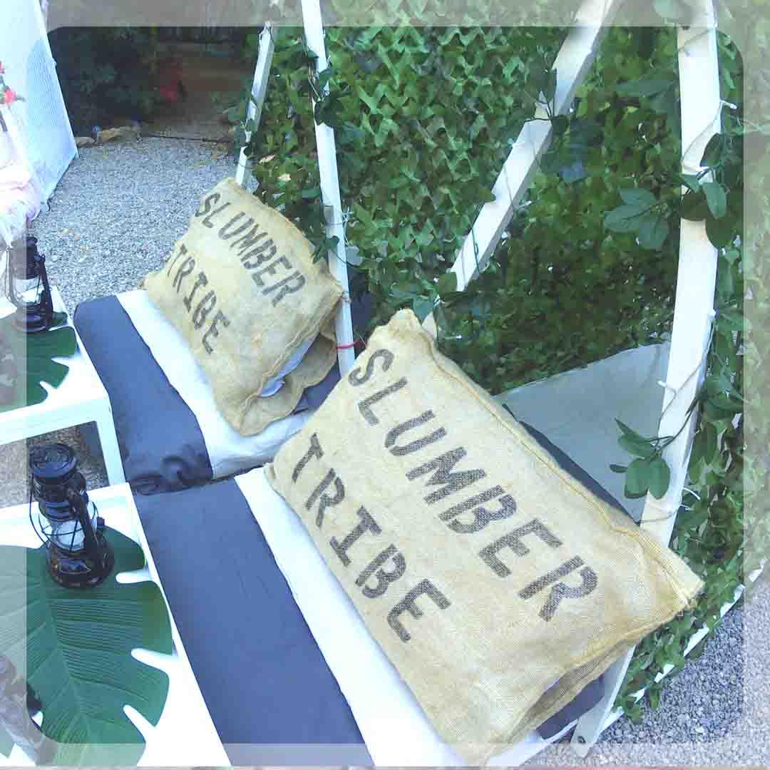 Slumber tribe theme - Wedding Corner Ibiza - Kids Corner Ibiza